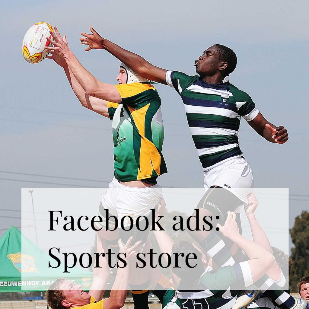 Facebook ads for a sports equipment store